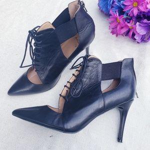 Banana republic size 10 stiletto lace front heels
